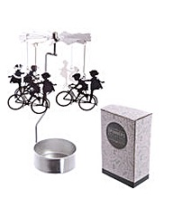 Spinning Tea Light Holder - Bicycle