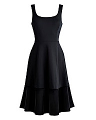 Velour Hem Prom Dress