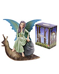 Collectable Fairy and Snail Figurine