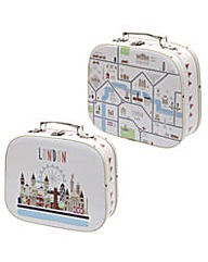 Set of 2 Craft Cases - London Map Design