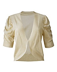 Short Sleeve Shrug Cardigan - Gold