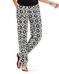 Ikat Print Harem Trousers
