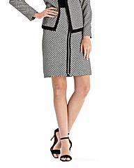 Asymmetric Zip Skirt