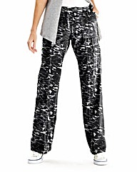Animal Print Combat Trousers Reg
