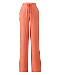 Linen Mix Trousers Reg