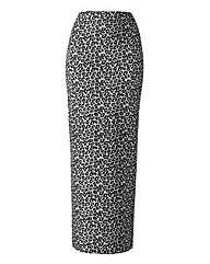 Animal Print Maxi Tube Skirt