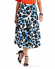 Scuba Midi Circle Skirt