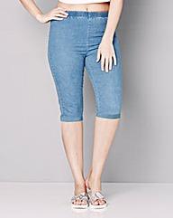 Denim Pull-On Denim Shorts