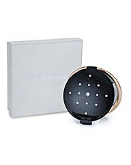 Jon Richard Black round compact mirror