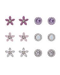Mood Floral Stud Earrings Set