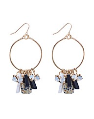 Mood Marbleized Cluster Hoop Earring