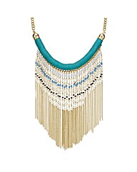 Mood Fringe Beaded Collar Necklace