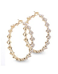 Mood Diamante Crystal Gold Hoop Earring