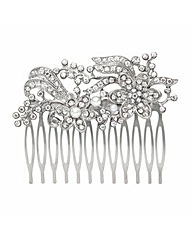 Mood Pearl Floral Hair Comb