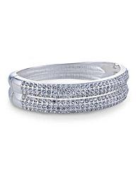 Mood Crystal Dent Clamp Bracelet