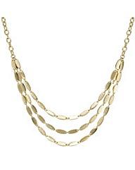 Mood Three Row Polished Link Necklace