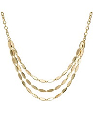 Mood Three Row Polished Link Necklace