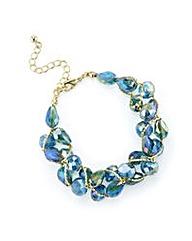 Mood Tonal Green Beaded Twist Bracelet