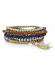 Mood Facet Beaded Stretch Bracelet Set