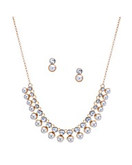 Mood Crystal Pearl Double Row Set