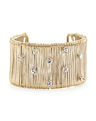 Mood Wire Cuff Bracelet With Crystals