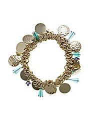 Mood Beaded Cluster Stretch Bracelet