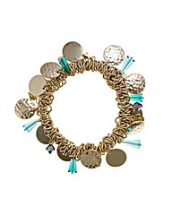 Mood Beaded Cluster Stretch Bracelet