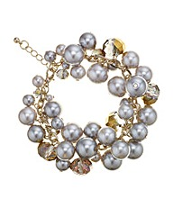 Mood Cluster Bead And Pearl Bracelet