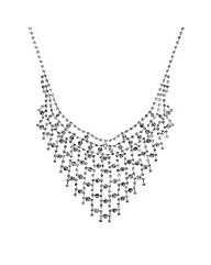 Mood Diamante Lattice Style Necklace