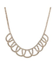 Mood Diamante Loop Necklace
