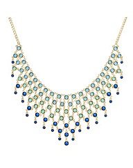 Mood Tonal Green Beaded Collar Necklace