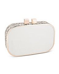 Jon Richard Glitter Satin Clutch Bag