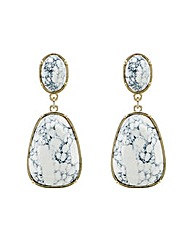 Mood Marbleized Statement Drop Earring
