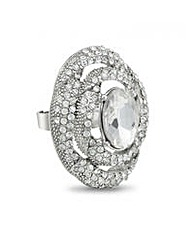 Mood Crystal Dome Swirl Cocktail Ring