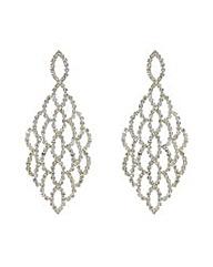 Mood Diamante Lattice Chandelier Earring