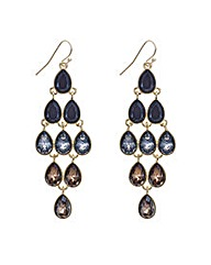 Mood Tonal Black Teardrop Earring