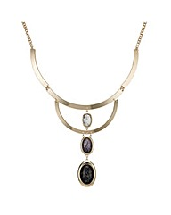 Mood Three Drop Marbleized Necklace