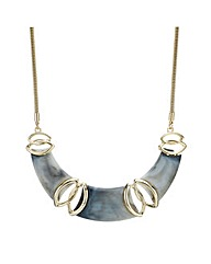 Mood Grey Marbled Resin Collar Necklace