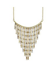 Mood Three Tone Fringe Collar Necklace