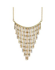Mood Three Tone Fringe Collar Necklace