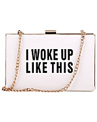 "Claudia Canova Clasp Top ""i Woke Up This"