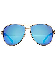 Guess Chain Temple Aviator Sunglasses