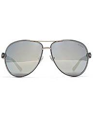 Guess Chain Temple Aviator Sunglasses