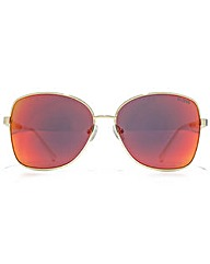 Guess Textured Temple Cateye Sunglasses