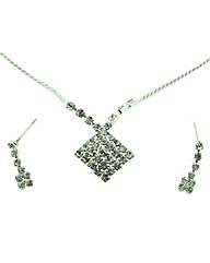womens pendant and earrings set