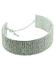 Womens Diamante Choker