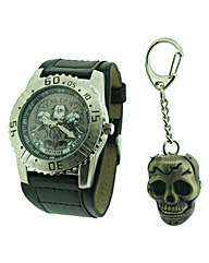 Mens Watch and Keyring set