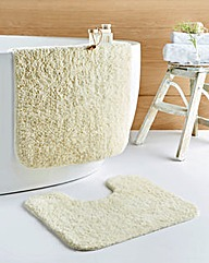 Cotton Supersoft Bath Mat 2 Piece Set