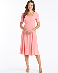 Dress With square Neck Length 43in