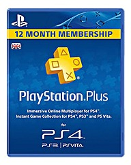 PS4 12 Month PS Plus Membership